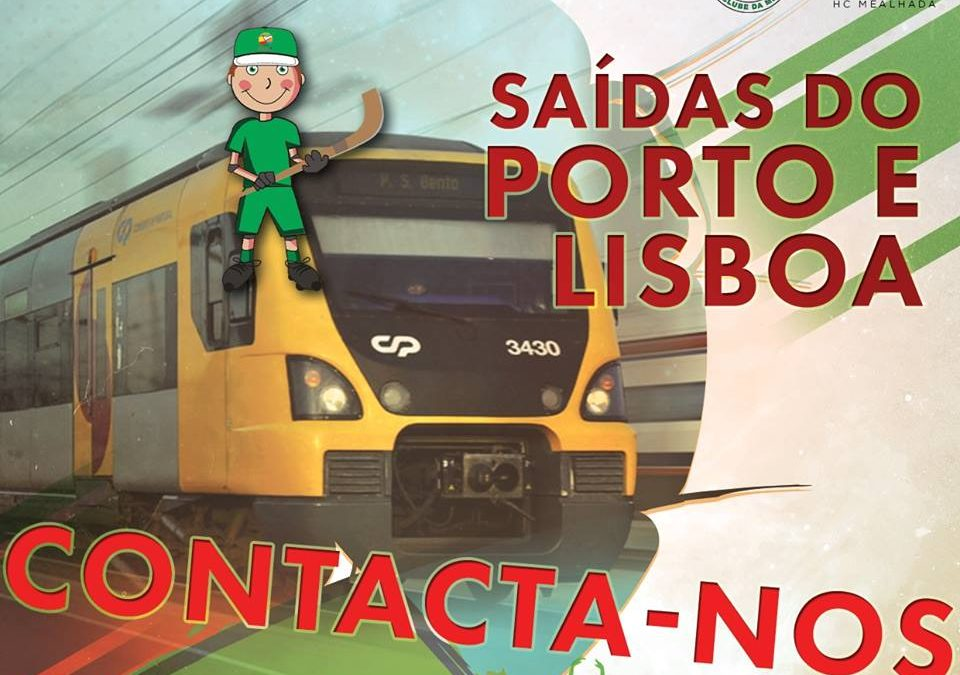 Saídas do Porto e de Lisboa de COMBOIO!